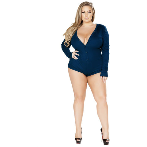 Plus Size Cozy & Comfy Sweater Romper