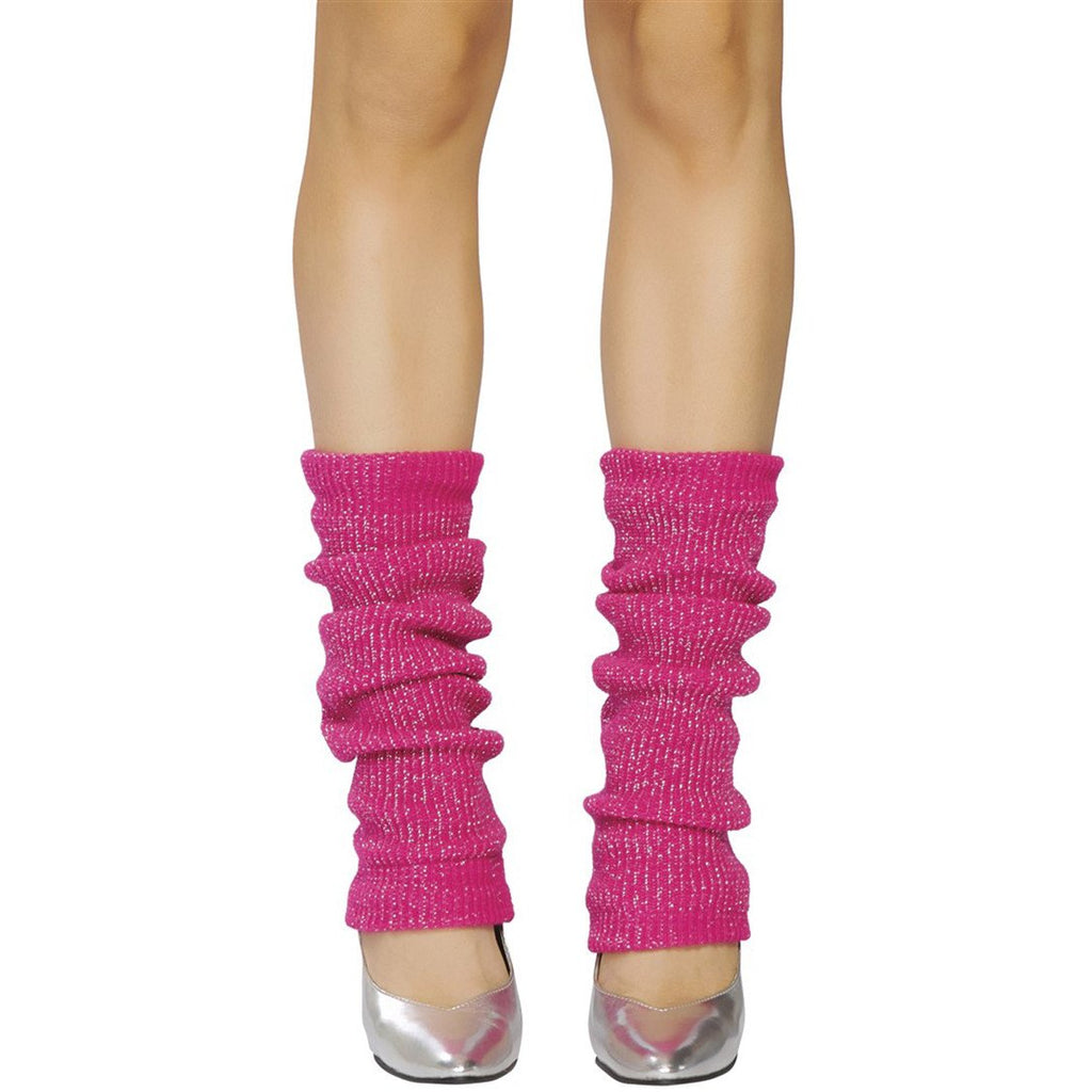 Pink and Silver Sparkle Leg Warmer - Charmed Costumes