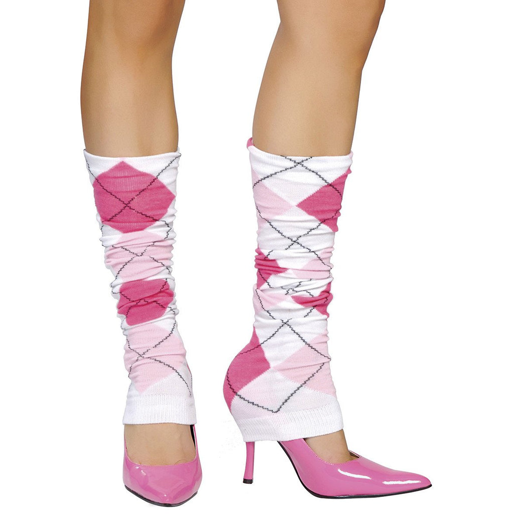 Pink Argyle Leg Warmer - Charmed Costumes