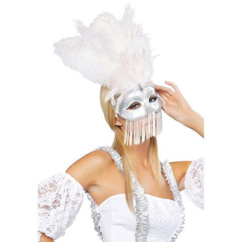 Beaded Masquerade Mask - Charmed Costumes