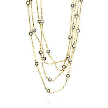 Layered Bezel Golden Necklace - Charmed Costumes