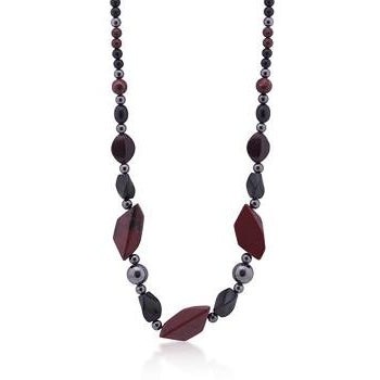 Geometric Dark Stones Necklace - Charmed Costumes