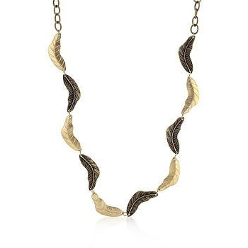 Vintage Leaf Two-tone Finish Necklace - Charmed Costumes