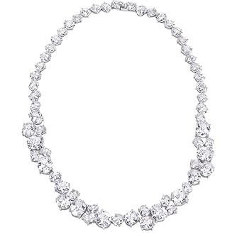Bejeweled Cubic Zirconia Collar Necklace - Charmed Costumes