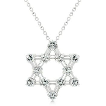 Cubic Zirconia Star Of David Pendant Necklace - Charmed Costumes