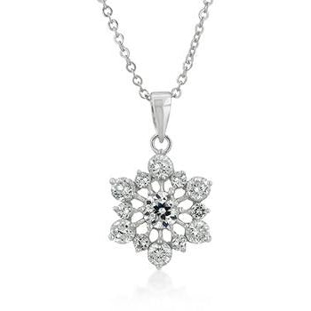 Snowflake Pendant Necklace - Charmed Costumes