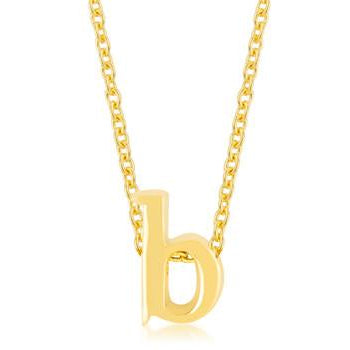 Golden Initial B Pendant - Charmed Costumes