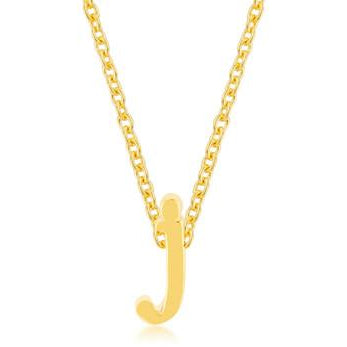 Golden Initial J Pendant - Charmed Costumes
