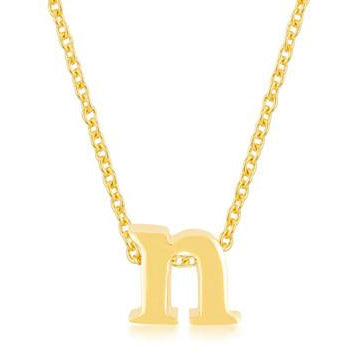 Golden Initial N Pendant - Charmed Costumes