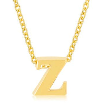 Golden Initial Z Pendant - Charmed Costumes
