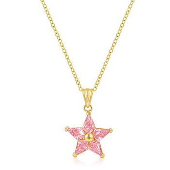 Goldtone Fancy Star Pendant Necklace - Charmed Costumes