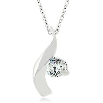 Cubic Zirconia Twist Pendant Necklace - Charmed Costumes