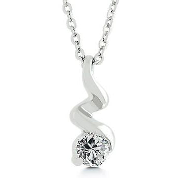 Silvertone Finish Twist Pendant Necklace - Charmed Costumes