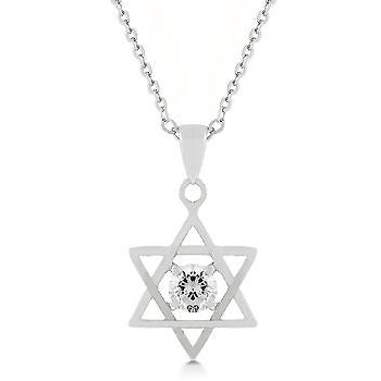 Star of David Solitaire Pendant Necklace - Charmed Costumes