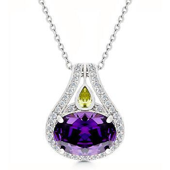 Majestic Amethyst Cubic Zirconia Pendant - Charmed Costumes