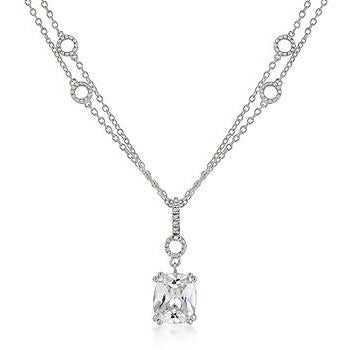 Solitaire Pendant on Double Chain Necklace - Charmed Costumes