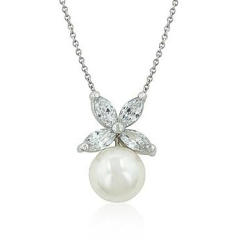 Butterfly White Pearl Pendant - Charmed Costumes