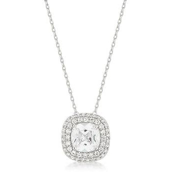 Pave Halo Pendant Necklace - Charmed Costumes