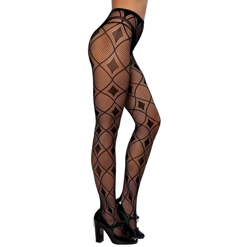 Diamond Print Pantyhose - Charmed Costumes