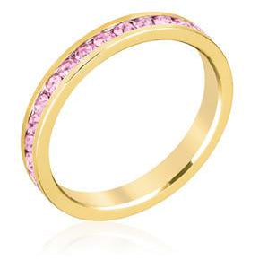 Stylish Stackables Pink Gold Ring - Charmed Costumes