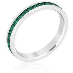 Stylish Stackables Emerald Crystal Ring - Charmed Costumes