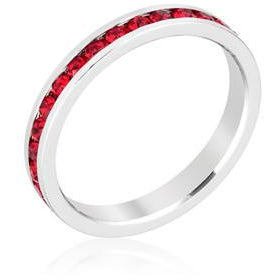 Stylish Stackables with Ruby Crystal Ring - Charmed Costumes