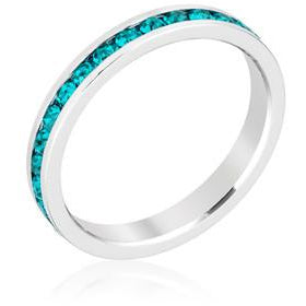 Stylish Stackables with Turquoise Crystal Ring - Charmed Costumes