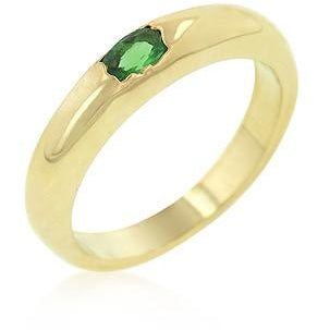 Green Oval Simple Ring - Charmed Costumes