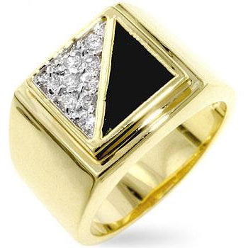 Gemini Cubic Zirconia Mens Ring - Charmed Costumes