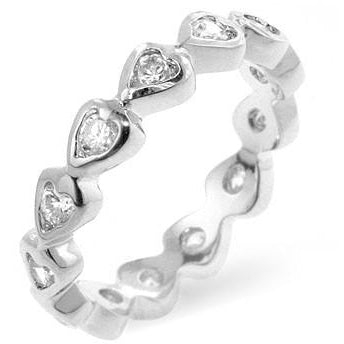 Heart Eternity Ring - Charmed Costumes