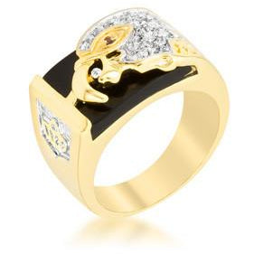 Cubic Zirconia Eagle Men's Ring - Charmed Costumes