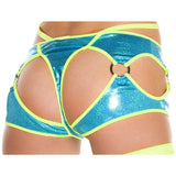 Cut-out Thong/Shorts w/ O-Rings - Charmed Costumes