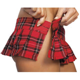 "6"" Pleaded Plaid Skirt -Red - Charmed Costumes"