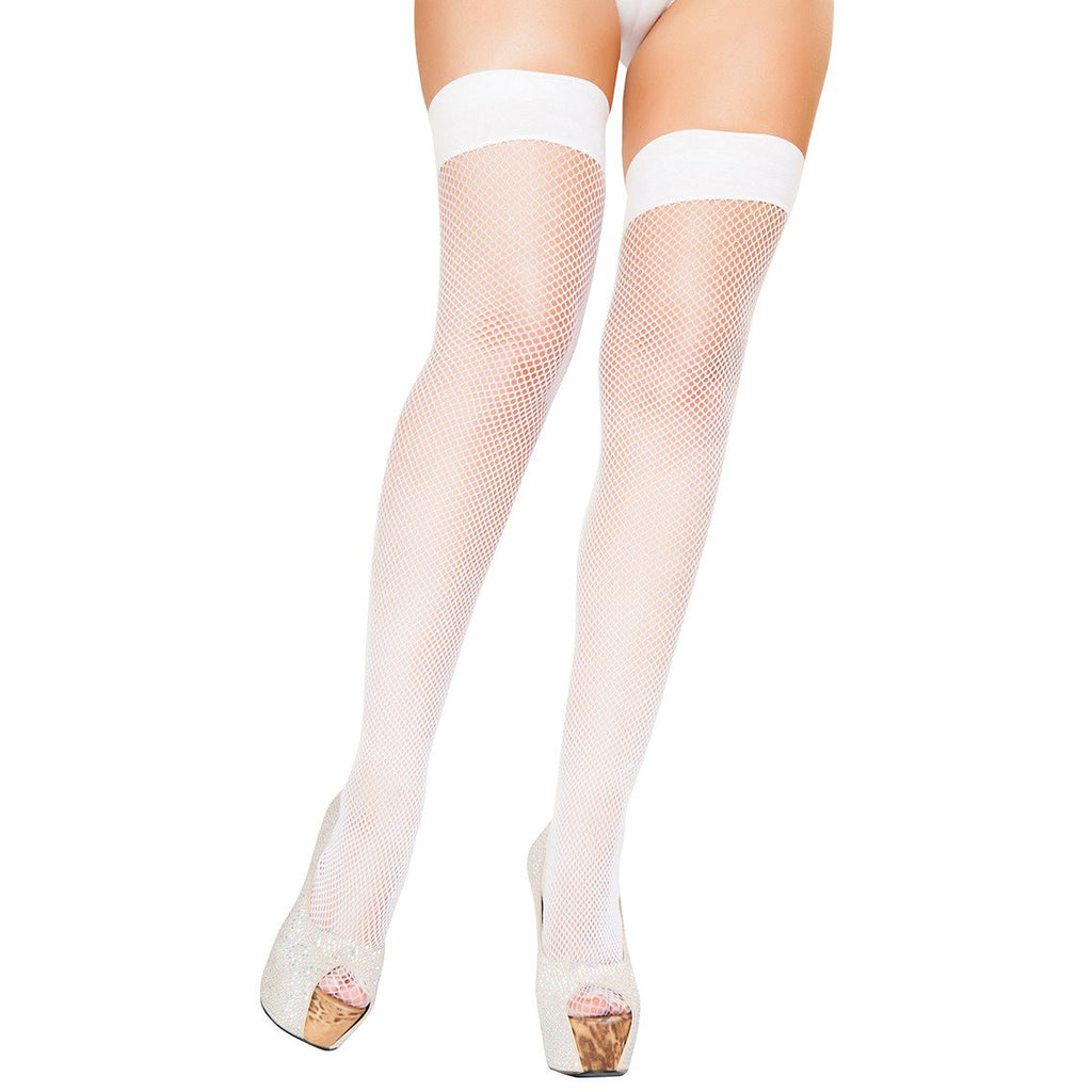 White Fishnet Stockings - Charmed Costumes