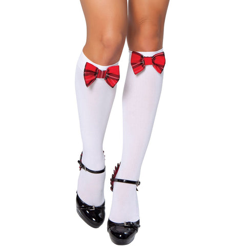 4a438e974 Sold Out Stocking with Red Bow - Charmed Costumes