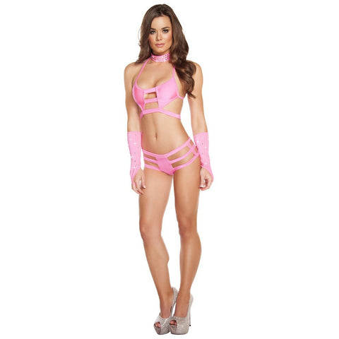 Pink Triple Strapped Bottom - Charmed Costumes
