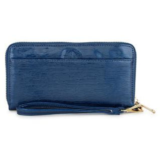 Kate Navy Faux Textured Leather Clutch - Charmed Costumes - 1