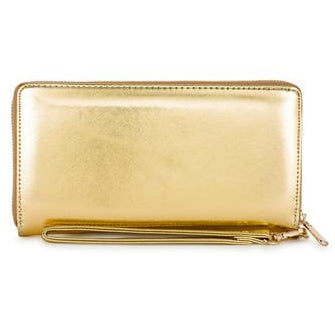 Martha Gold Faux Leather Clutch - Charmed Costumes - 1