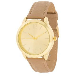 Gold Cream Leather Watch - Charmed Costumes