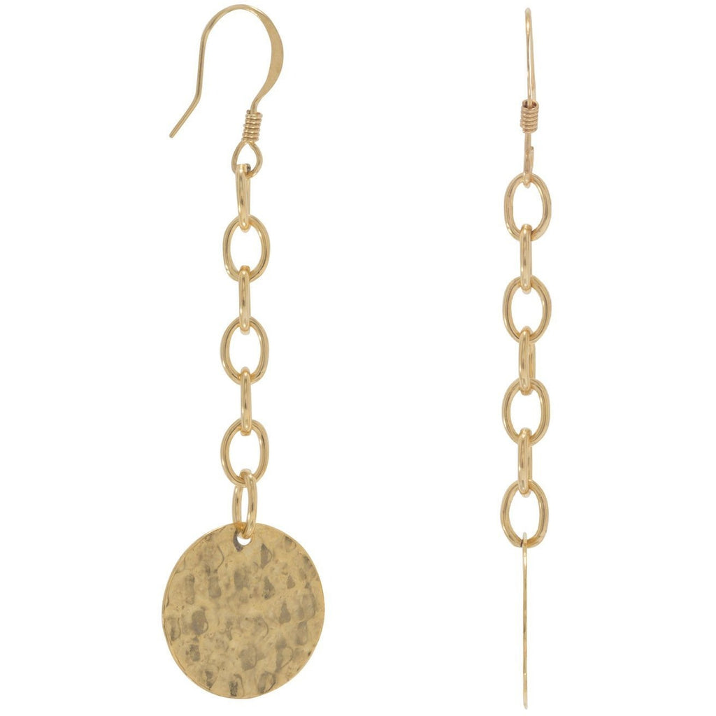 Hammered Gold Tone Fashion Earrings