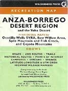 Anza-Borrego Desert Region and the Yuha Desert Recreation Map