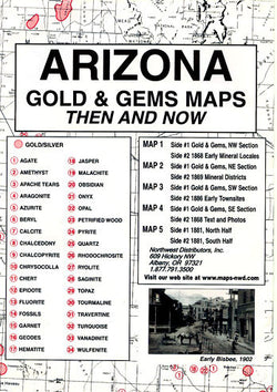 Arizona Gold & Gems Maps Then and Now
