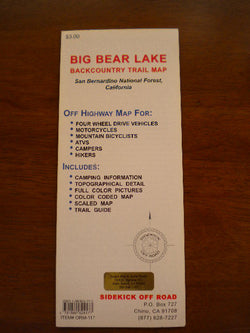 Big Bear Lake Backcountry Trail Map