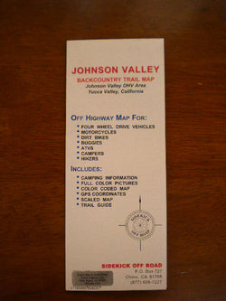 Johnson Valley Backcountry Trail Map