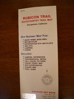 Rubicon Trail Backcountry Trail Map