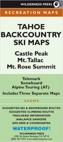 Tahoe Backcountry Ski Maps