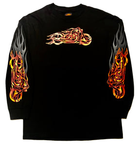 Red Bobster Flame Bike Long Sleeve