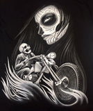 Day of the dead lady biker Short Sleeve #20