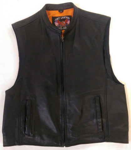 Men's Club Cut Front Zipper Vest