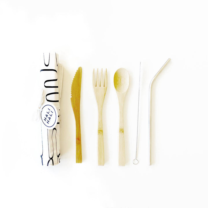 6 pc Eco Friendly Reusable Cutlery Set - Labyrinth